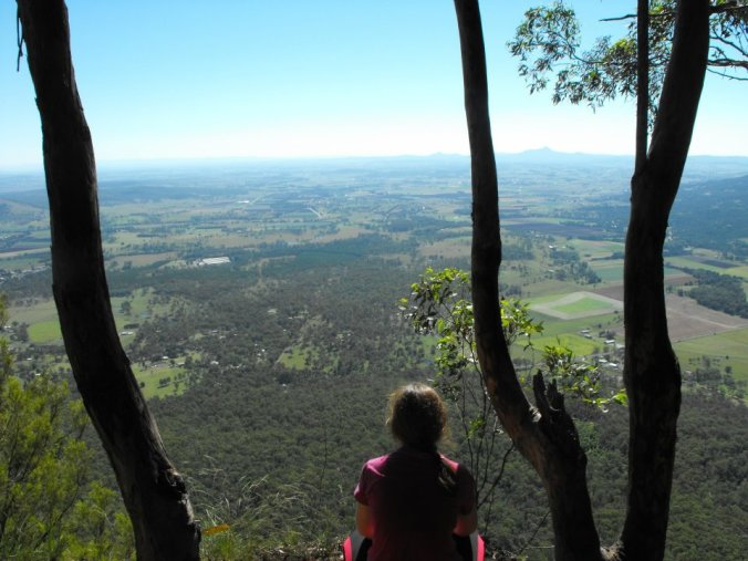 View of the Fassifern valley from Mt Edwards.