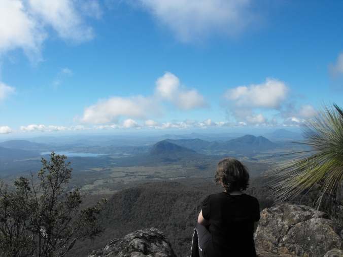 Looking towards east from the East Peak you can see Lake Moogerah and some of the coastline.