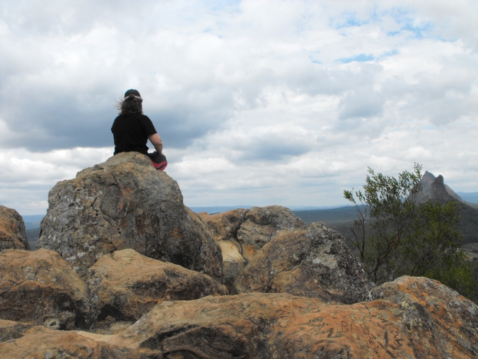 Me sitting on the highest point.