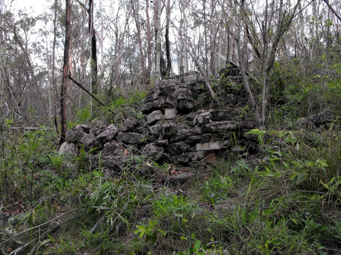 Remains of training bunker.
