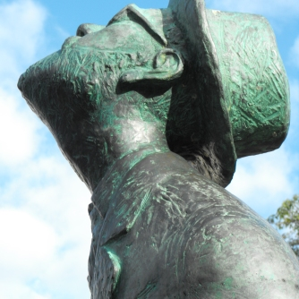 Mt Coot-tha - sculpture - face
