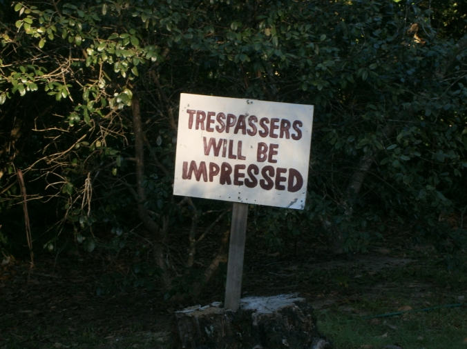 trespassers will be impressed