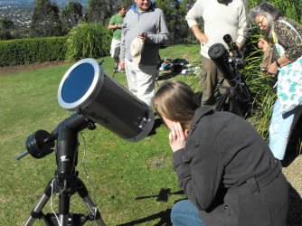 Viewing the Transit of Venus from the Summit Look-out