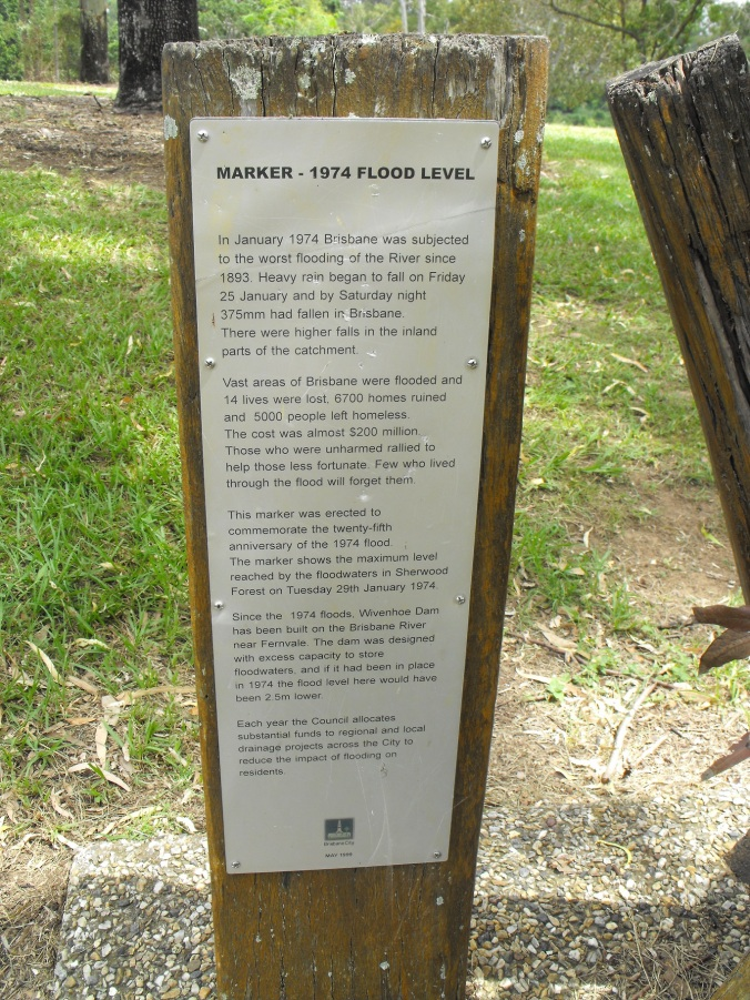 1974 Brisbane Flood Marker