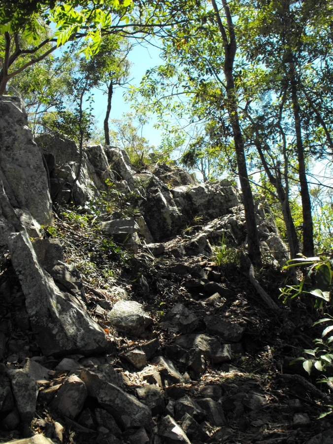 Steep rocky paths