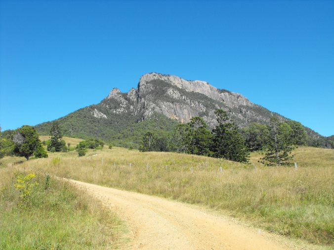 Mt Maroon from dirt road 1
