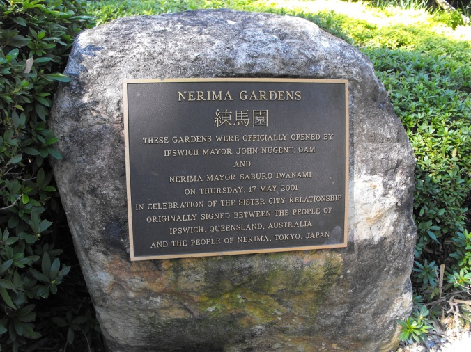 Nerima Gardens Official opening sign