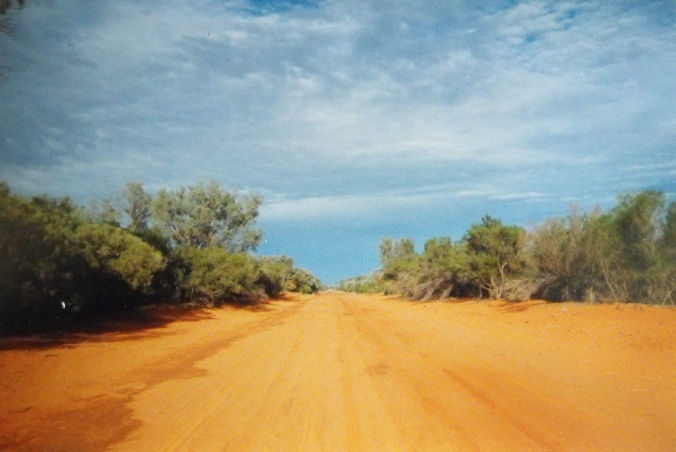 outback road and sky