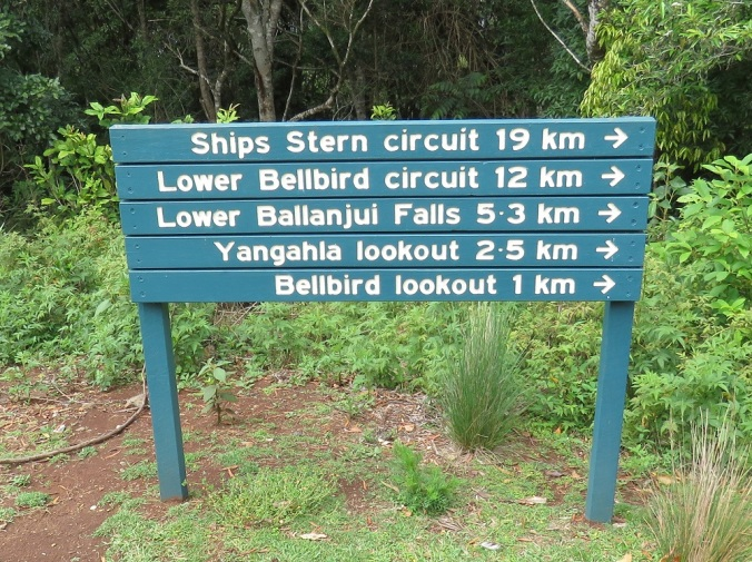 Binna Burra Trail Sign