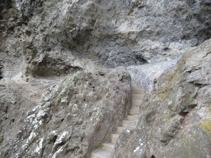Steps carved out of stone Binna Burra