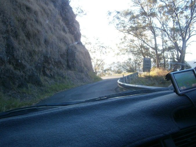 Winding road Binna Burra