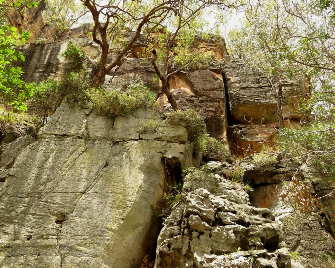 Two Storey Cave Rock Walls 5 - Cania Gorge 2