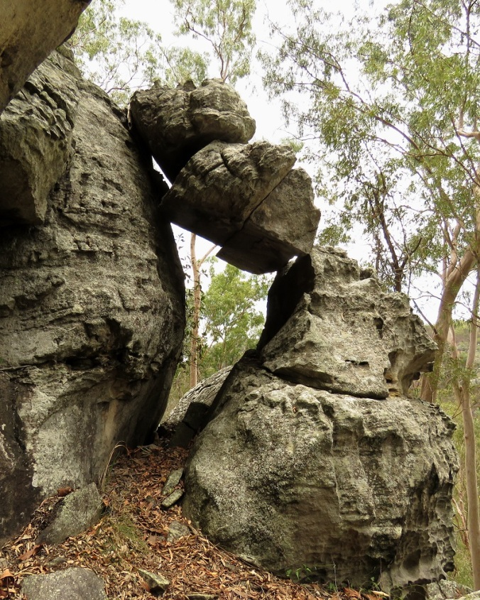 Two Storey Cave Track Rocks - Cania Gorge