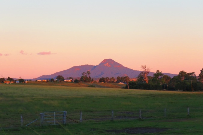 Sunset over Mt Greville