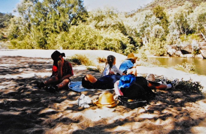 Carnarvon Gorge People resting in shade - Queensland
