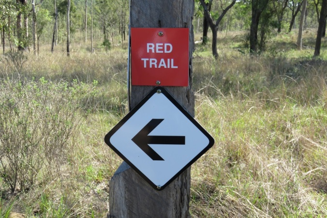 red trail sign 4