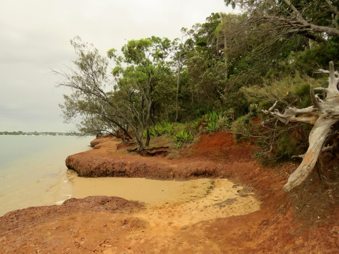 Coochiemudlo island red rock beach