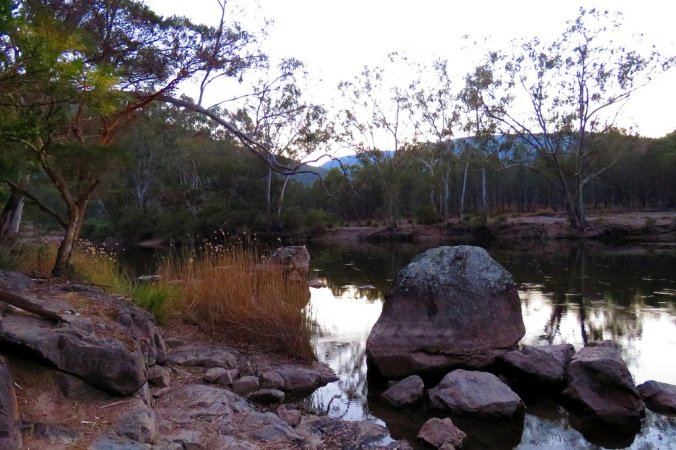 Permanent Waterhole at Dawn Sundown National Park