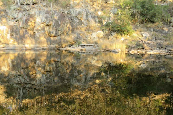 reflections in gorge