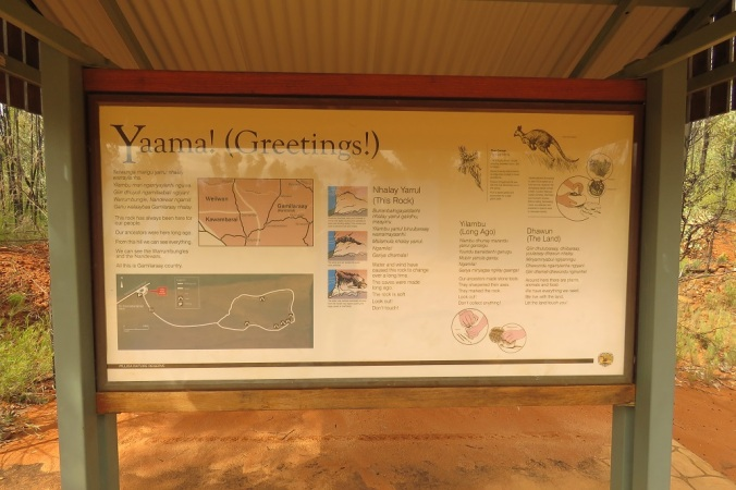 Sandstone Caves Circuit Sign